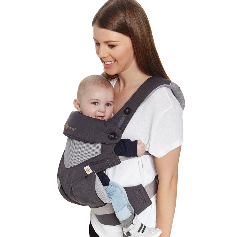Image of Ergobaby 360 All Carry Positions Ergonomic Cool Air Mesh Baby Carrier - Carbon Gray