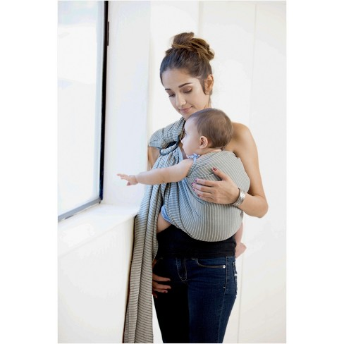 Moby Ring Sling Baby Carrier Silver Streak Target
