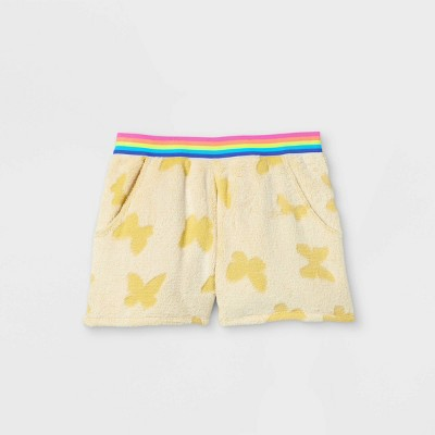 Girls' Butterfly Pajama Shorts - art class™ Yellow