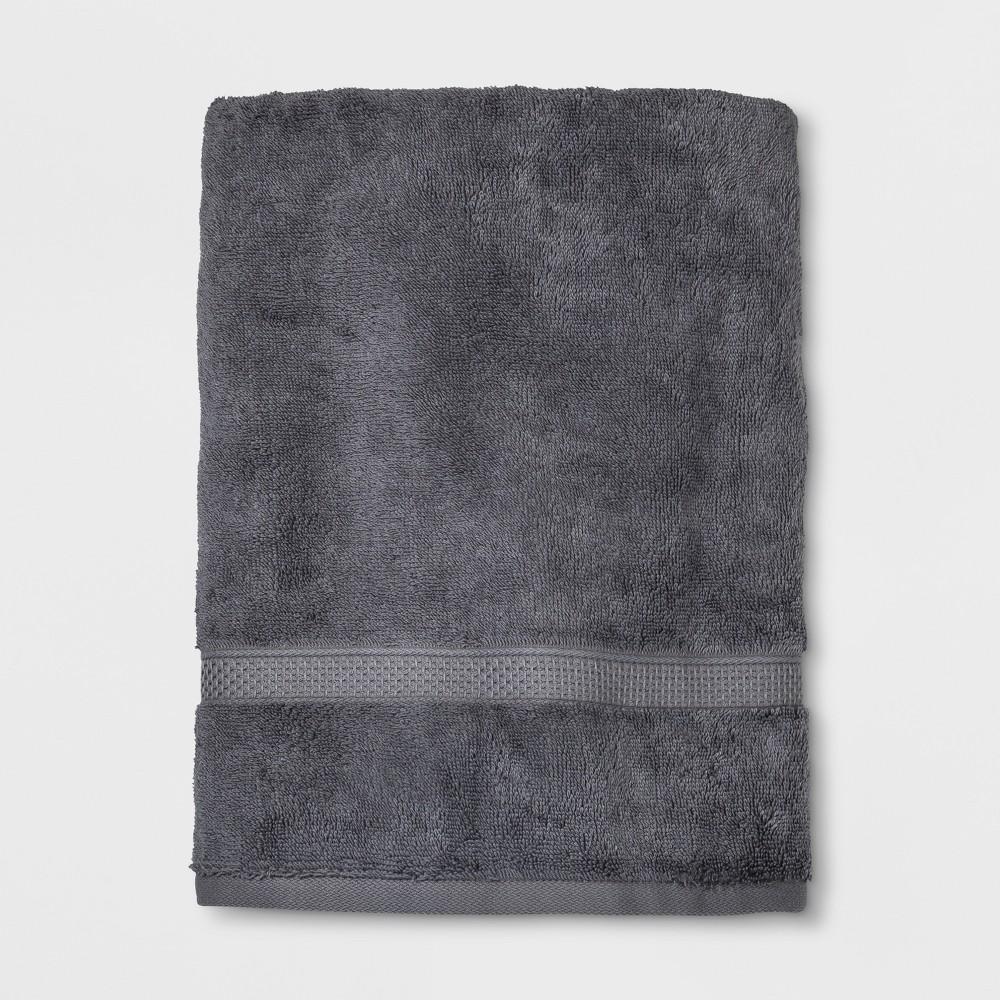 Soft Solid Bath Towel Dark Gray - Opalhouse