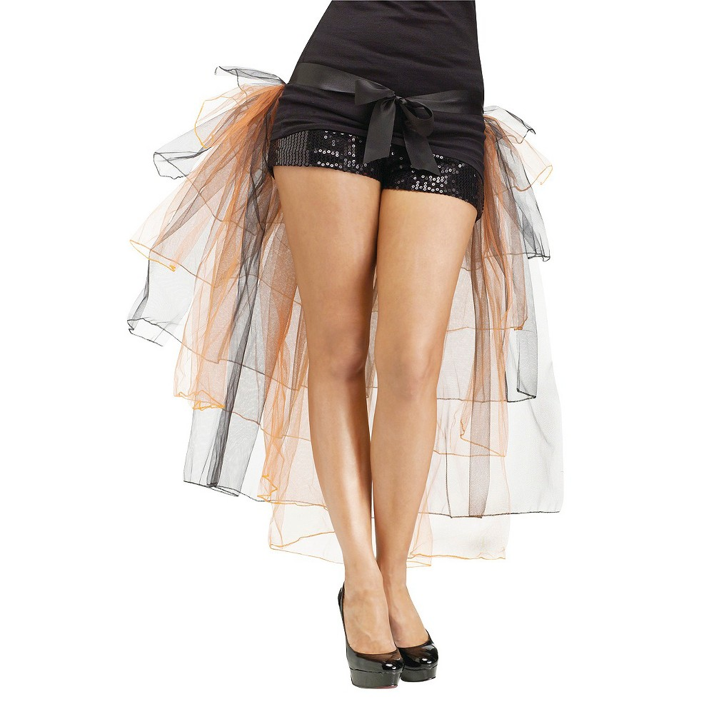 Women's Tutu Bustle Skirt Costume Black - One Size