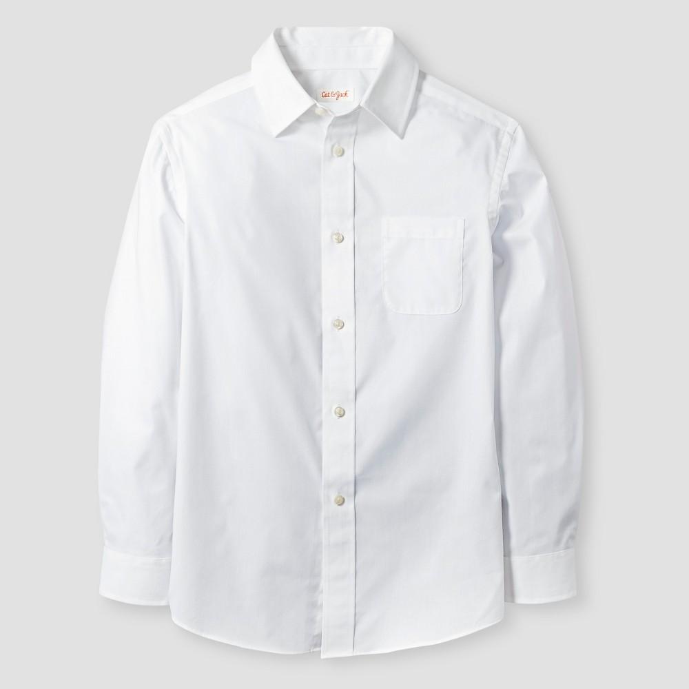 Boys' Button-Down Shirt - Cat & Jack White Xxl