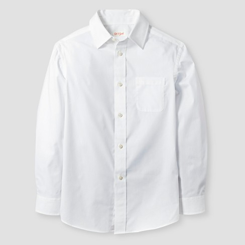 Boys' Button-Down Shirt - Cat & Jack™ White - image 1 of 1