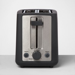 2 Slice Extra Wide Slot Stainless Steel Toaster - Made By Design™