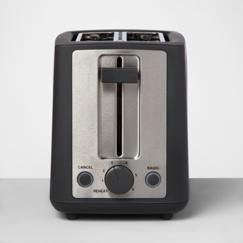 2 Slice Extra Wide Slot Stainless Steel Toaster - Made By Design™ - image 1 of 4