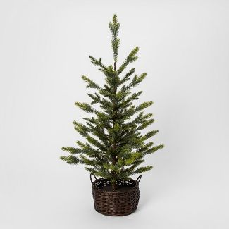 3ft Faux Pine Tree in Basket Large - Threshold™