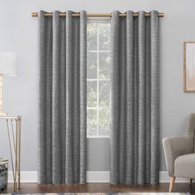 Sinatra Dimensional Textured Total Blackout Grommet Curtain Panel - Scott Living