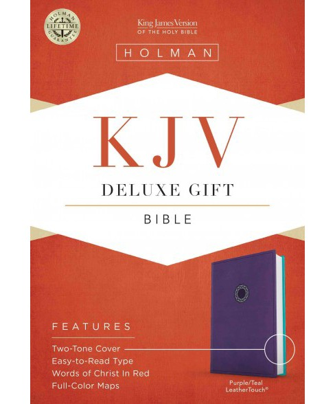 Holy Bible : KJV Deluxe Gift, Purple Teal, Leathertouch, Red Letter (Paperback) - image 1 of 1