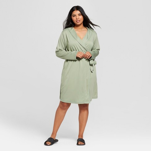 Women's Plus Size Mid Weight Robe - Gilligan & O'Malley™ - image 1 of 2