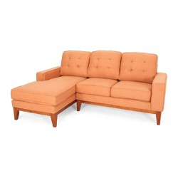 2pc Welles Chaise Sectional Sofa Set Burnt Orange -Christopher Knight Home
