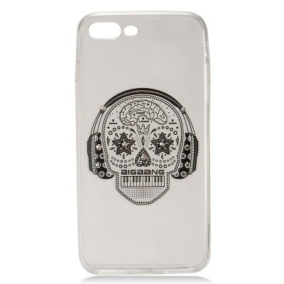 iPhone case, by Insten Skull Hard Snap-in Case Cover With Diamond For Apple iPhone, White by Eagle