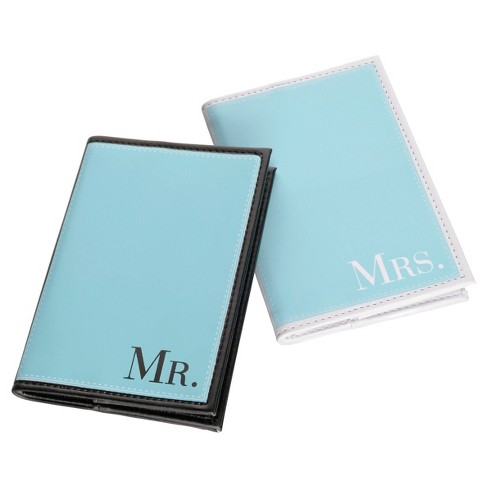 Aqua Mr. & Mrs. Passport Covers - image 1 of 1