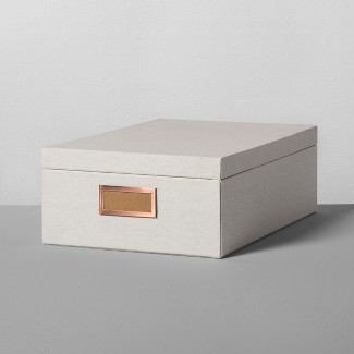 Storage Box Large - Natural Canvas - Hearth & Hand™ with Magnolia