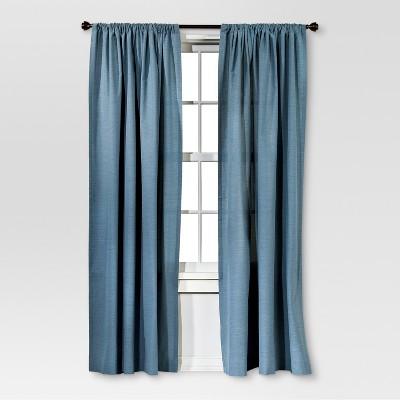 Farrah Curtain Panel Blue (54 x84 )- Threshold™