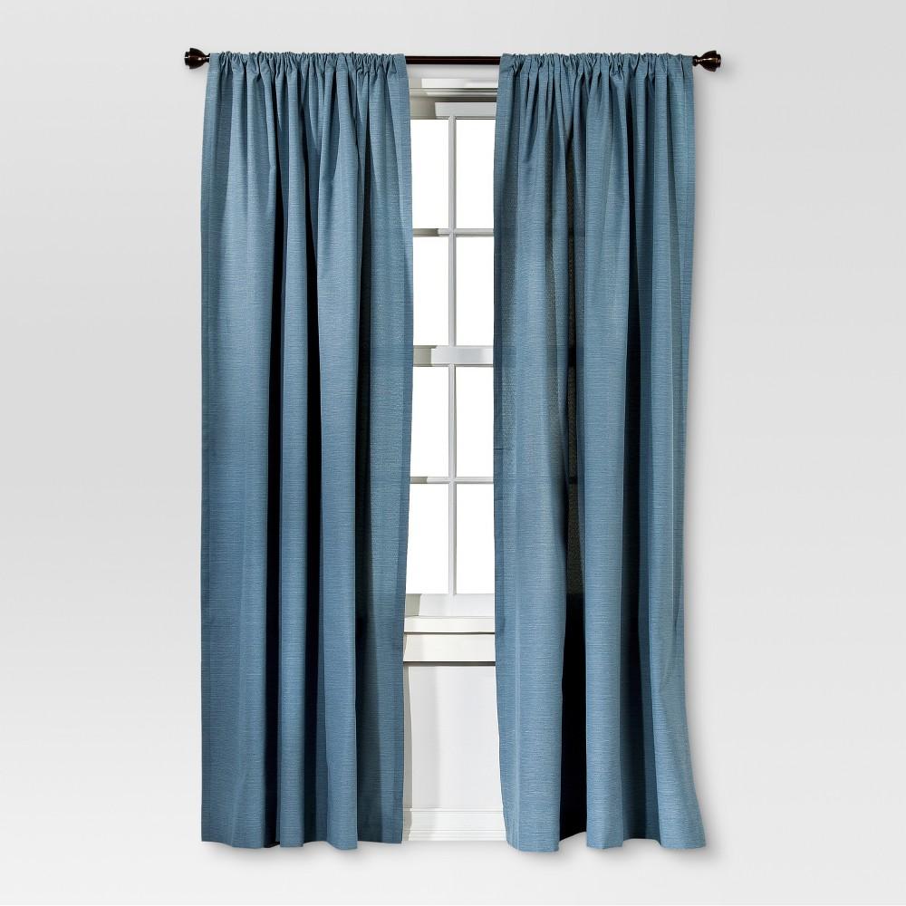 95 34 X54 34 Farrah Curtain Panel Blue Threshold 8482