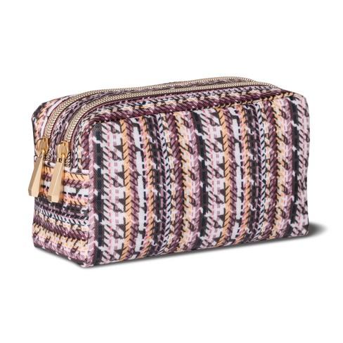 9976600060bf Sonia Kashuk™ Cosmetic Bag Double Zip Organizer Broken Houndstooth ...