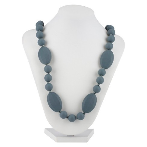 Nuby Silicone Teething Necklace Gray - image 1 of 3