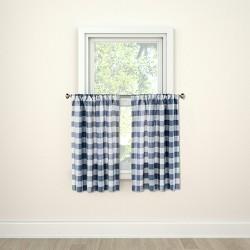 "Check Small Window Curtain Tiers 42""x36"" - Threshold™"