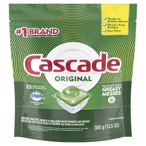 Cascade Dishwasher Detergent ActionPacs - Fresh Scent - 25ct - image 1 of 2