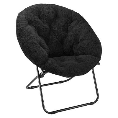 Sherpa Dish Chair Black - Room Essentials™