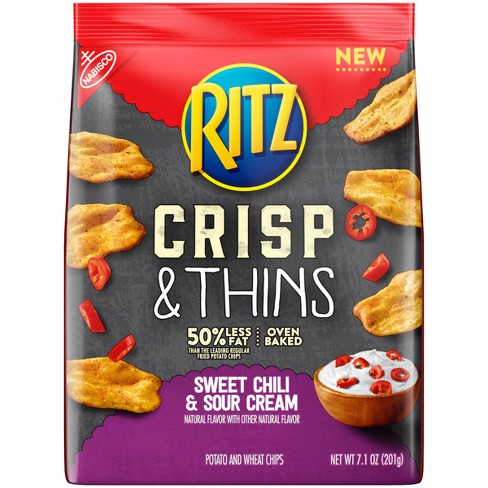 Ritz Crisp & Thins Sweet Chili & Sour Cream Chips - 7.1oz - image 1 of 1