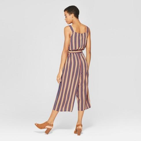 1e2868378ef1 Women s Striped Strappy Knit Waistless Jumpsuit - Xhilaration™ Navy   Target