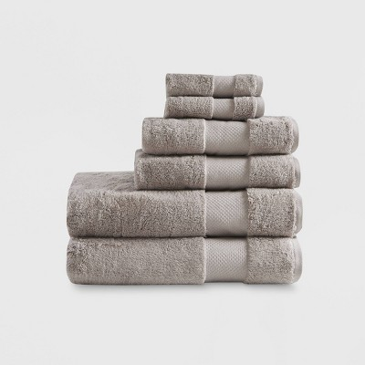 Bath Towels Sets Taupe Brown
