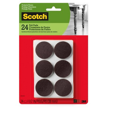 Scotch 1.5  24pk Felt Pads Brown