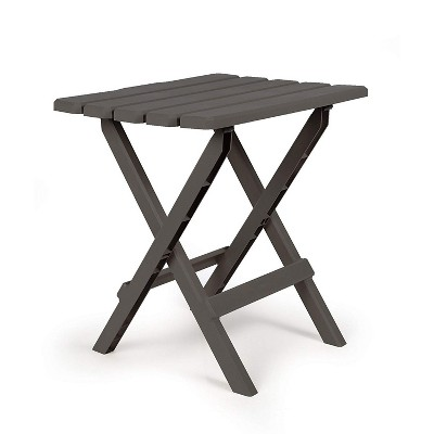 Camco 51885 Large Adirondack Portable Outdoor Furniture Folding Table, Charcoal