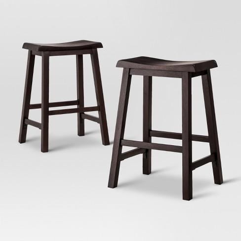 Brilliant Trenton Counter Stool Espresso Set Of 2 Threshold Beatyapartments Chair Design Images Beatyapartmentscom