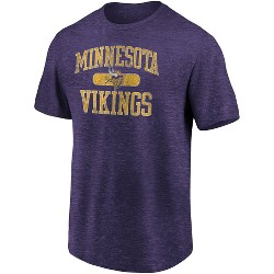 NFL Minnesota Vikings Men's Heather Short Sleeve T-Shirt