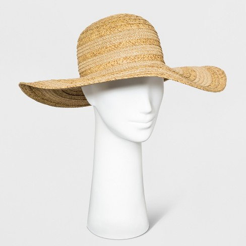 2d0ae5676d57b Women's Mix Braid Floppy Hat - A New Day™ Natural