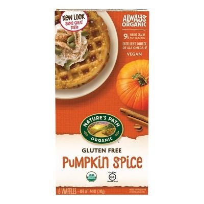 Nature's Path Organic Vegan Gluten Free Wheat Free Pumpkin Spice Frozen Waffles - 7.4oz/6ct