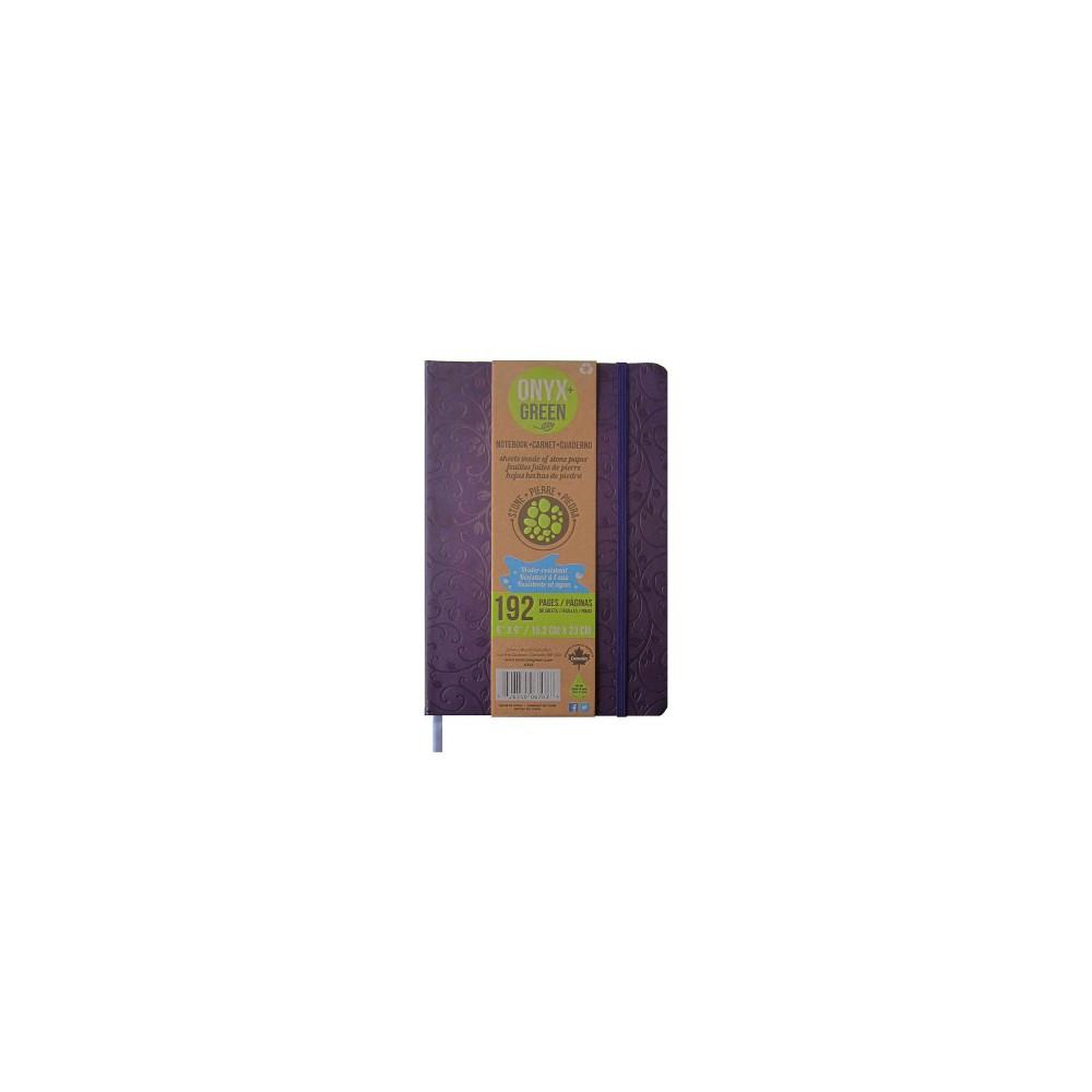 Onyx & Green Journal Purple : Pu, Elastic Closure, Stone Paper (Hardcover)