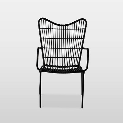 Wingback Patio Accent Chair - Black - Opalhouse™