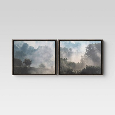 "(Set of 2)20"" x 16"" Forest Framed Canvas - Threshold™"