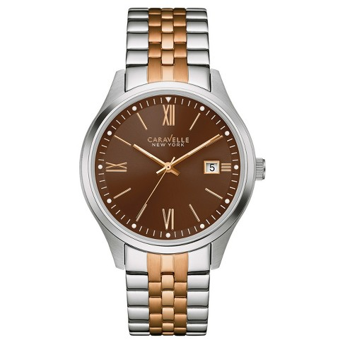 Men's Caravelle New York Stainless Steel Watch 45B139 - Brown - image 1 of 1