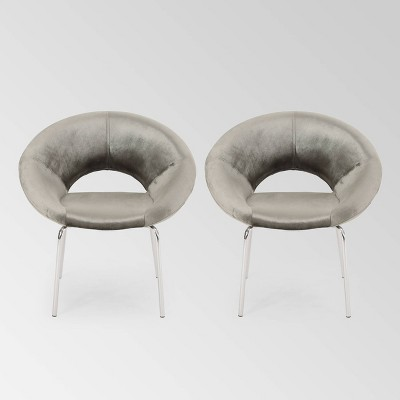 Set of 2 Paschall Modern Glam Velvet Accent Chairs - Christopher Knight Home