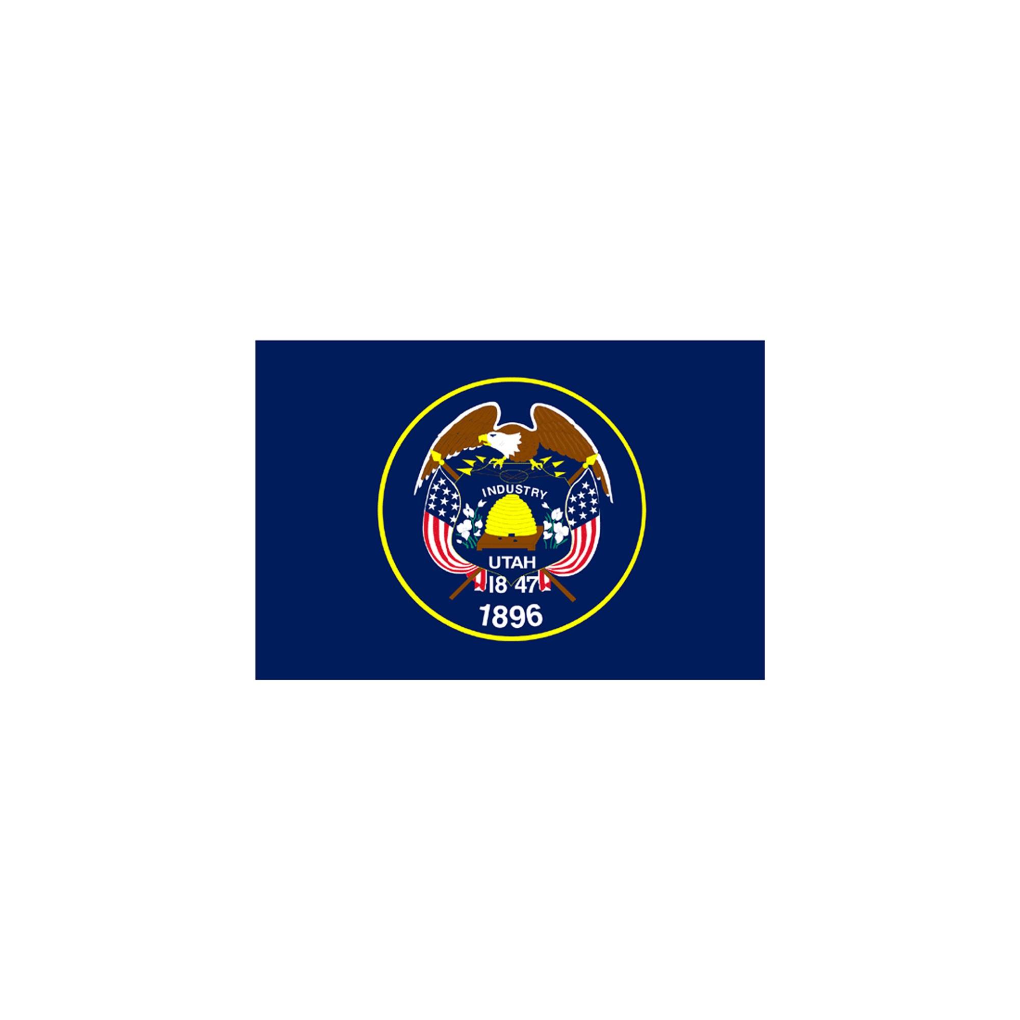 Halloween Utah State Flag - 4' x 6'