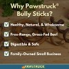 Pawstruck Bully Stick Rings for Dogs - Natural Bulk Dog Dental Treats & Healthy Chew, Best Thick Low-odor Pizzle Stix, Free Range & Grass Fed Beef - image 2 of 4