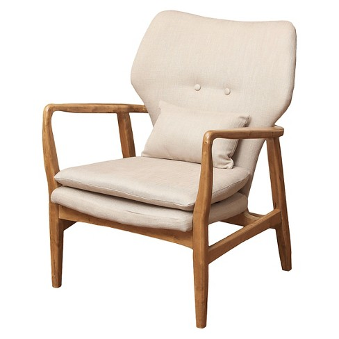 Fantastic Haddie Mid Century Modern Club Chair Beige Christopher Knight Home Gamerscity Chair Design For Home Gamerscityorg