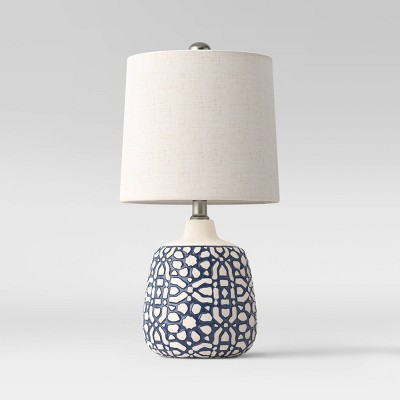 Assembled Ceramic Table Lamp Blue - Threshold™