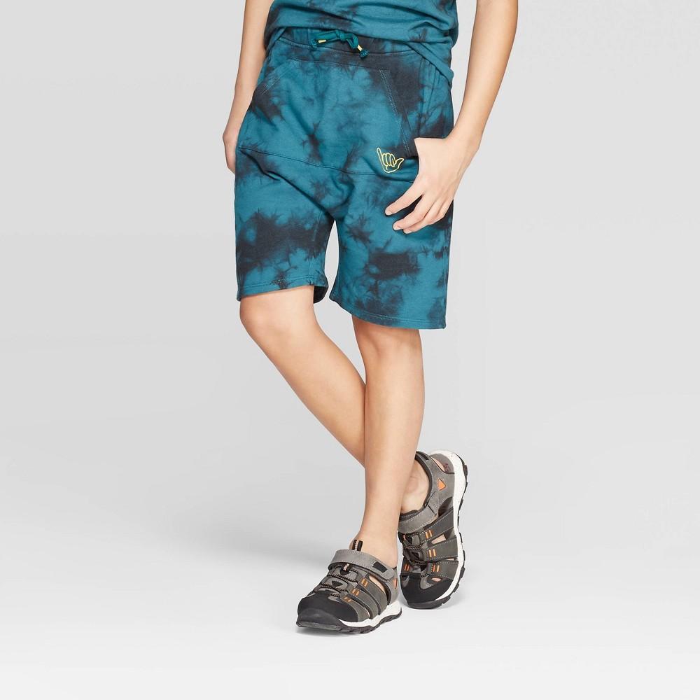 Boys Tie Dye Knit Shorts Art Class Black Xs 4 5 Black Blue