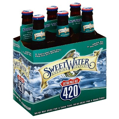 SweetWater 420 Extra Pale Ale Beer - 6pk/12 fl oz Cans