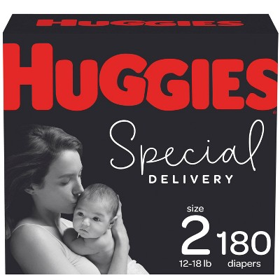 Huggies Special Delivery Hypoallergenic Diapers Size 2 - 180ct