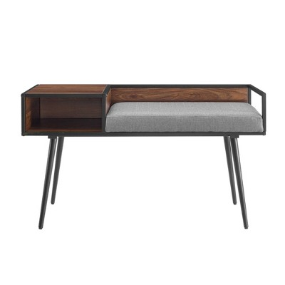Modern Telephone Entry Bench - Saracina Home