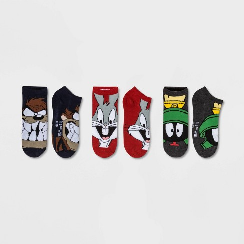 Women's Bugs Bunny 3pk Low Cut Socks - Red/Gray/Blue One Size - image 1 of 2
