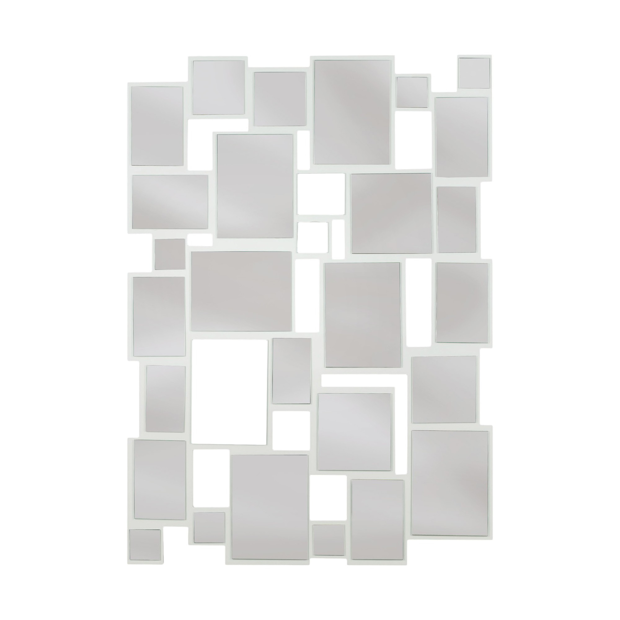 Rectangle Decorative Wall Mirror White - Kenroy Home