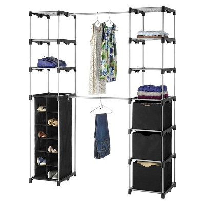 Whitmor Deluxe Double Rod Closet Organizer   Black : Target