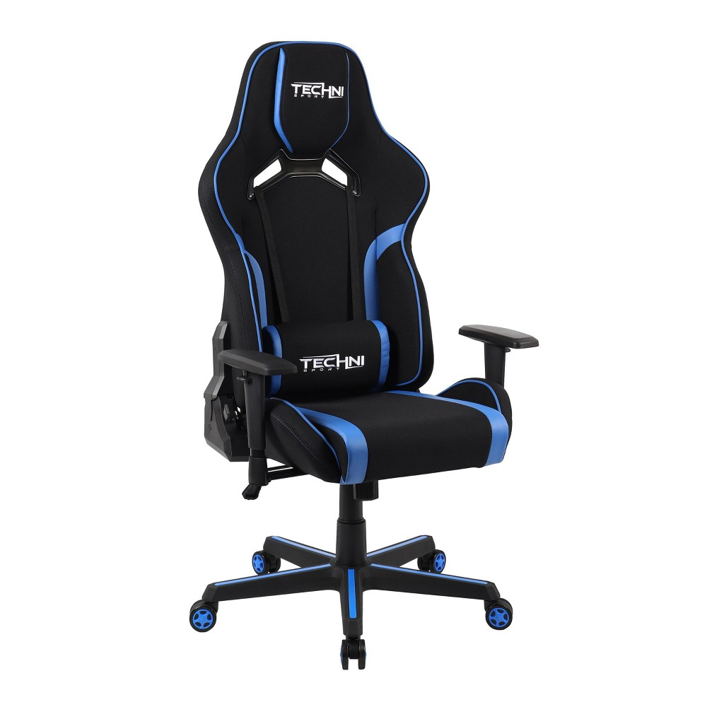 Image of Fabric Office PC Gaming Chair Blue - Techni Sport